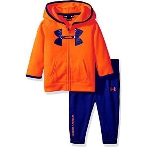Under Armour Orange & Blue Fleece Hoodie Set