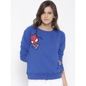 Kook N Keech Marvel Blue Spiderman Print Sweatshirt