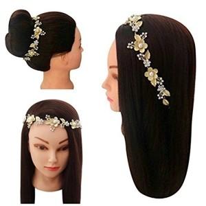 Vogue Golden Party Wedding Bridal Fancy Hair Accessories