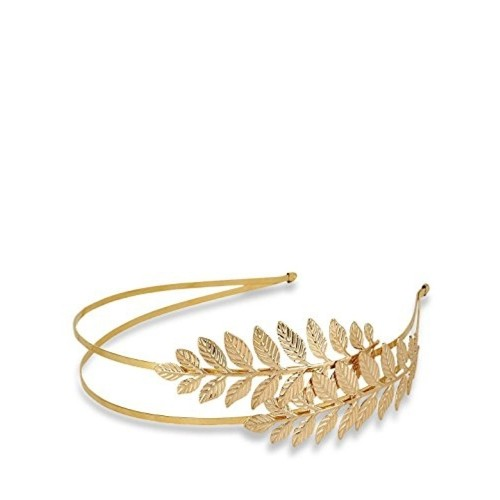 Zelin Fashion Golden Alloy Gold Plated Leaf Style Hairband