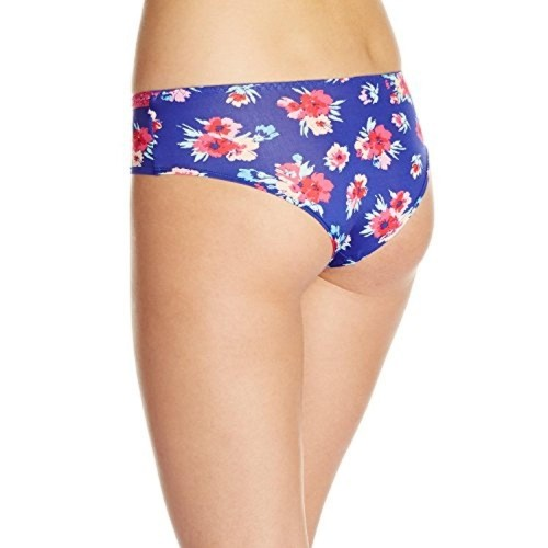 Bwitch Blue Floral Printed Cotton Casual Panty