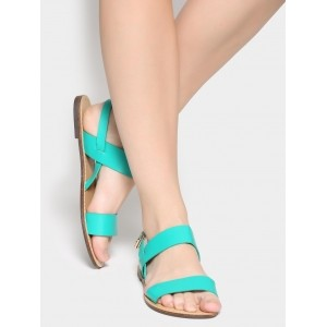 Abof Turquoise Blue Synthetic Sandals