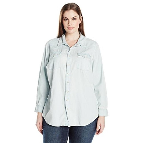 8a16719bfe65a Buy Lucky Brand Women s Plus Size Classic Western Shirt online ...
