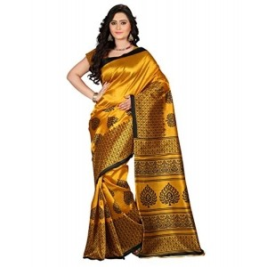 e-VASTRAM Women's Golden Mysore Art Silk Saree