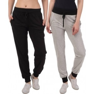 Gag Wear  Multicolor Solid Cotton Track Pants-Pack Of 2