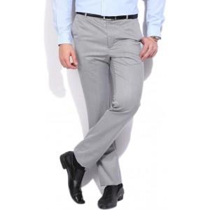 Arrow New York Slim Fit Men\'s Grey Trousers