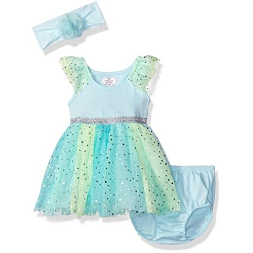 abe78296 Buy The Children's Place Baby Girls' Glitter Mesh Dress online ...