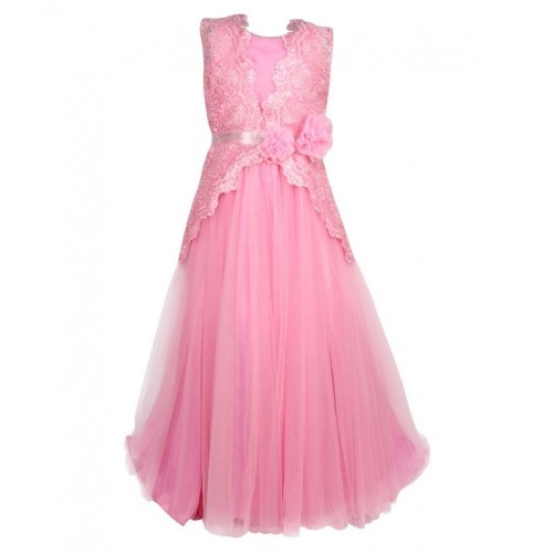 6e0aefc55f9 Buy Cutecumber Pink Gown for Girls online