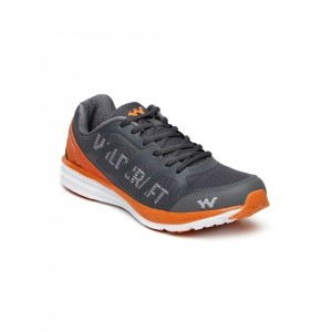 Wildcraft Grey Leather Printed Training Shoes