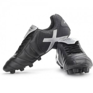 Vector X Black Synthetic Leather Lace Up Football Shoes