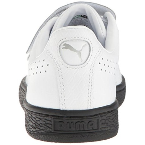 Buy PUMA Men s Basket Classic Strap B W Fashion Sneaker online ... 7b2039828