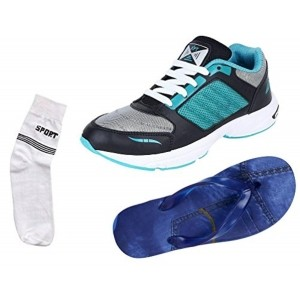 Maddy Multicolored Leather Printed Sports Shoes, Slipper And Socks