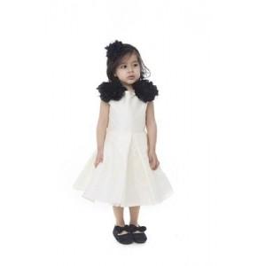 Kidology Girls  Net Two Flower Taffeta Dress