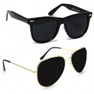 Epic Ink ncm011 Black Polarized Aviator Wayfarer Sunglasses