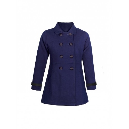 naughty ninos Girls Navy Pea Coat