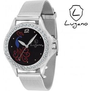 Lugano LG2017DE Sheffer Chain Analog Watch  - For Women