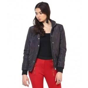 Yepme Brown Polyester Blend Zippered Jackets