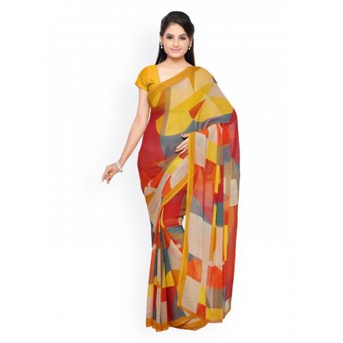 Vaamsi Multicoloured Chiffon Printed Saree