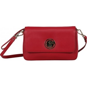 ILEX London Red Genuine Leather Messenger Bag