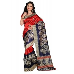 e-VASTRAM Womens Mysore Printed Art Silk Saree (NS4D_Maroon)