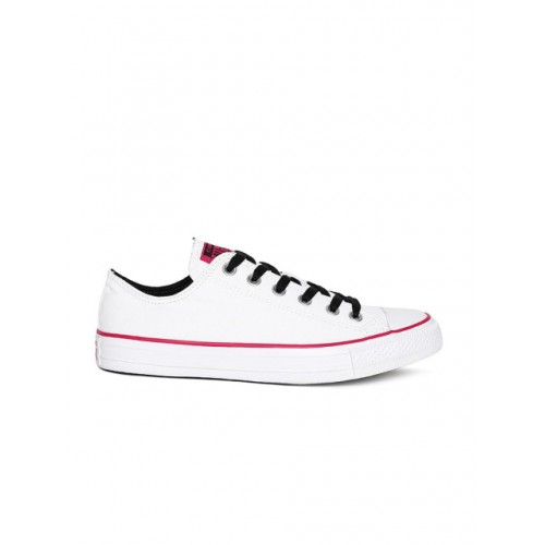 2bd1ae5de841 Buy Converse Unisex Solid White Canvas Sneakers online