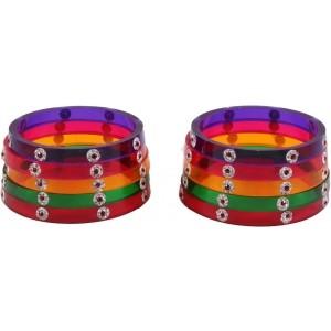 The Ethnic Wears Alloy Cubic Zirconia Bangle Set