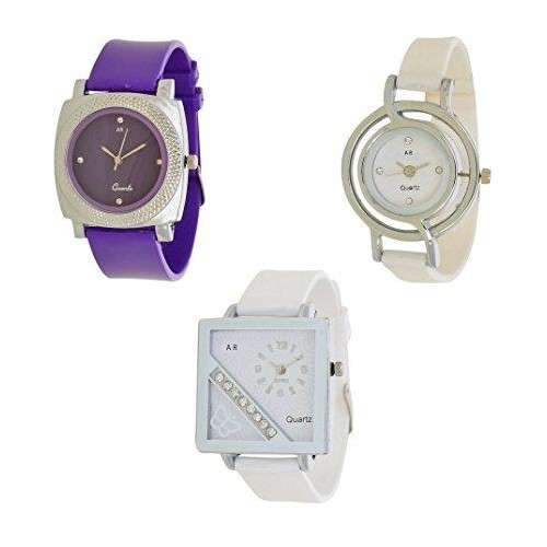 A R Sales Multi Color Anlog Watch Watch Pack Of 3