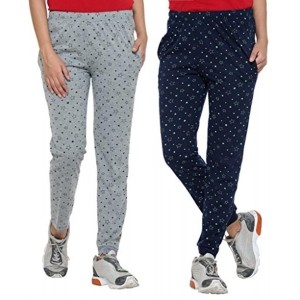 Vimal Cotton Blended Women\'s Trackpants(Pack Of 2)