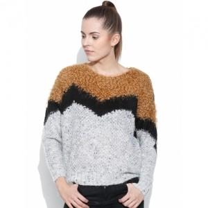 Vero Moda Grey Melange & Black Winter Top