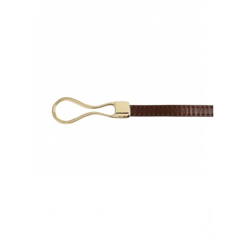 Buy DressBerry Brown Synthetic Belt With D ring Closure online