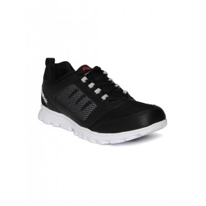 Reebok Black & White Mesh Lace Up Running Shoes