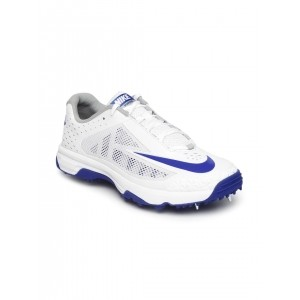 Nike Men White Cricket Shoes