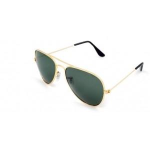d58fc35e69faa Amour-propre Aviator with Dark Green lenses and Classy Golden Frame  Rectangular Sunglasses