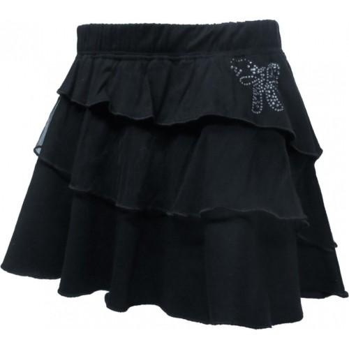 Kothari Solid Girls Regular Black Skirt