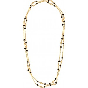 IMC Deals Golden & Black Alloy Gold Plated Chain