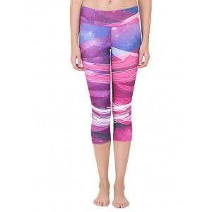 Zelocity by Zivame purple polyester sports capris