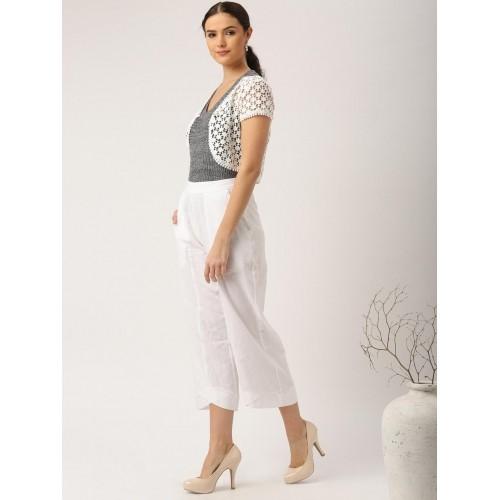 fd9008e0ae467c Buy IMARA Fusion by Shraddha Kapoor Off-White Lace Shrug online ...