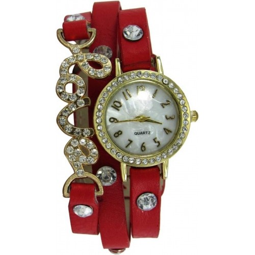 SPINOZA 01S075 red exclusive diamond studded prisiouse collaction love bracelet for valantine Analog Watch  - For Girls