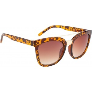 Crazy Eyez CE003C4 Brown Rectangular Sunglasses