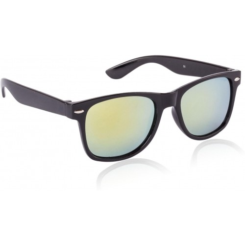 e7750fe6c93 Buy Glitters RB010AC1-10 Black Rectangle Wayfarer Sunglasses online ...