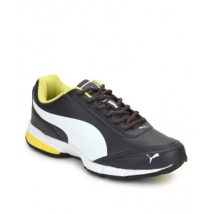 Puma Duplex Evo Rush Black Leather Training Shoes