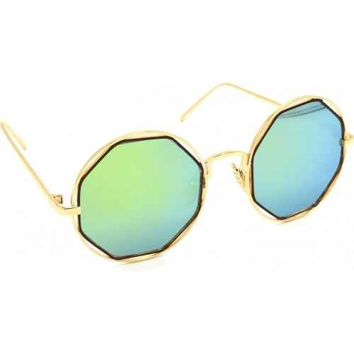 e2a7f54923 Buy Hrinkar HRS331-GLD-LGLD 1 Round Multicolor Sunglasses online ...