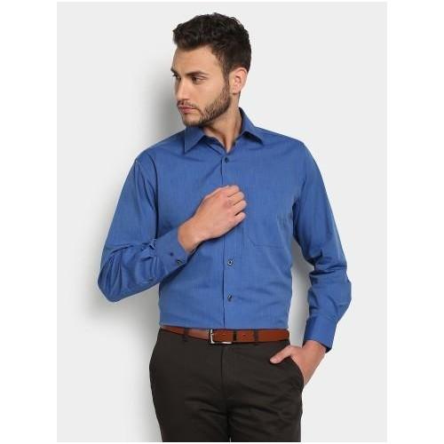 Buy Louis Philippe Men Dark Blue Formal Shirt online ... Louis Philippe Formal Shirts