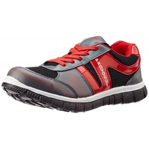 Provogue Gray & Red Low Ankle Running Shoes