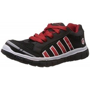Provogue Black & Maroon Running Shoes