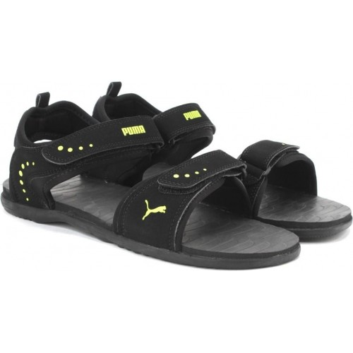 06e5be121f52 Buy Puma Men Black-Limepunch Sports Sandals online