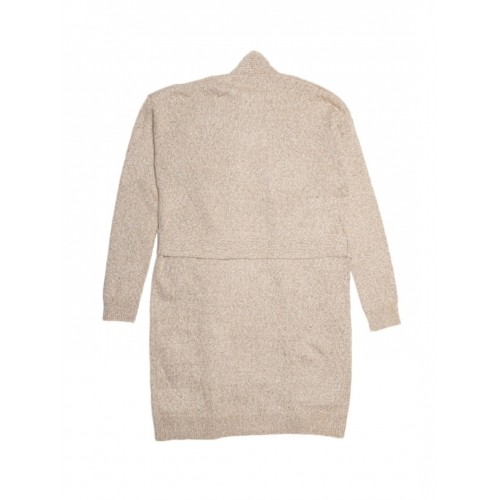 FOREVER 21 Beige Poly Cotton & Acrylic Longline Cardigan