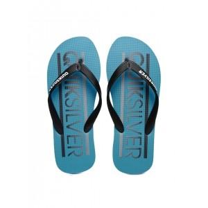 Quiksilver Black & Blue Synthetic Printed Molokai Wordmar Flip-Flops