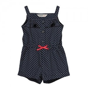 Beebay Polka Dot Navy Blue  Cotton Jumpsuit
