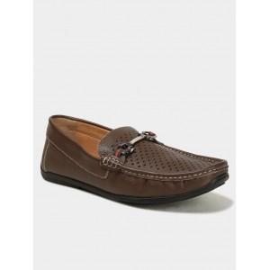 Carlton London Men Brown Leather Loafers